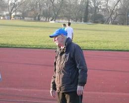 Colin Haggie keeping a watchful eye on training